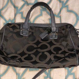 EUC gray Coach bag